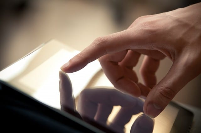 Holding Tablet PC