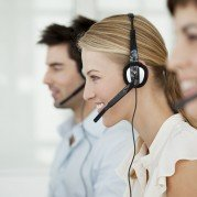 Happy Call Center Workers